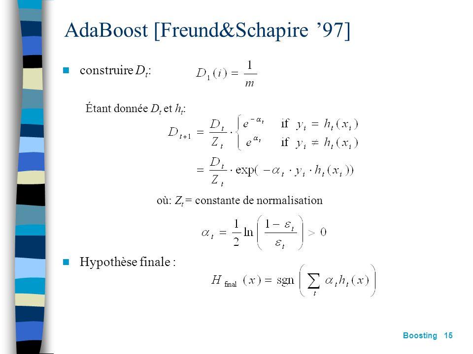 AdaBoost [Freund&Schapire '97]